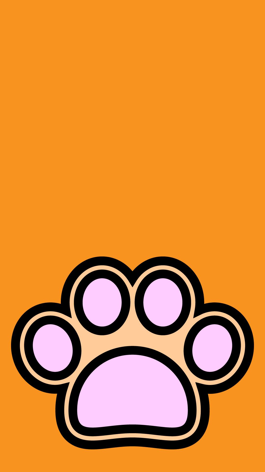 かわいい犬の肉球壁紙(iPhone)の無料イラスト・商用フリー