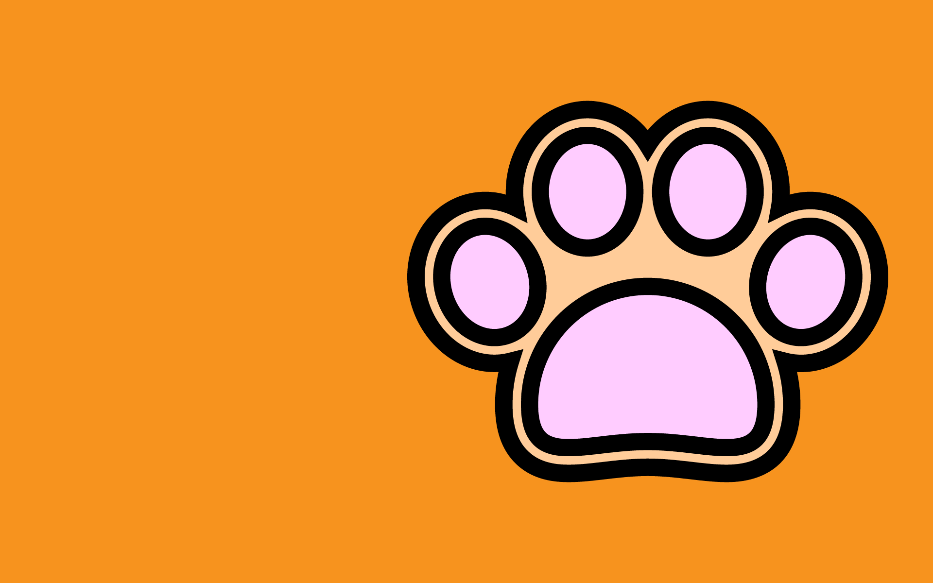 かわいい犬の肉球壁紙(PC)の無料イラスト・商用フリー