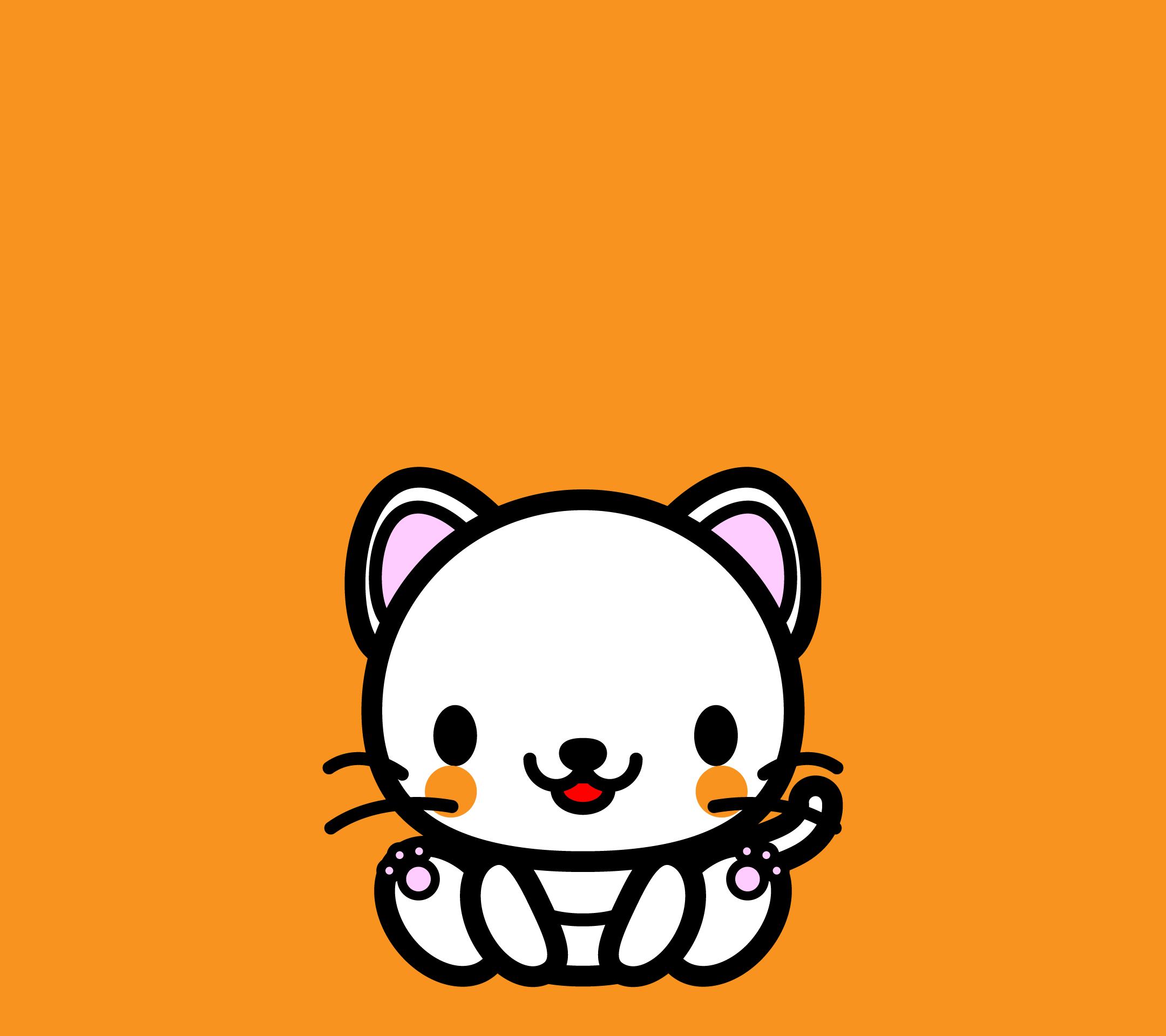 wallpaper3_sitwhitecat-orange-android
