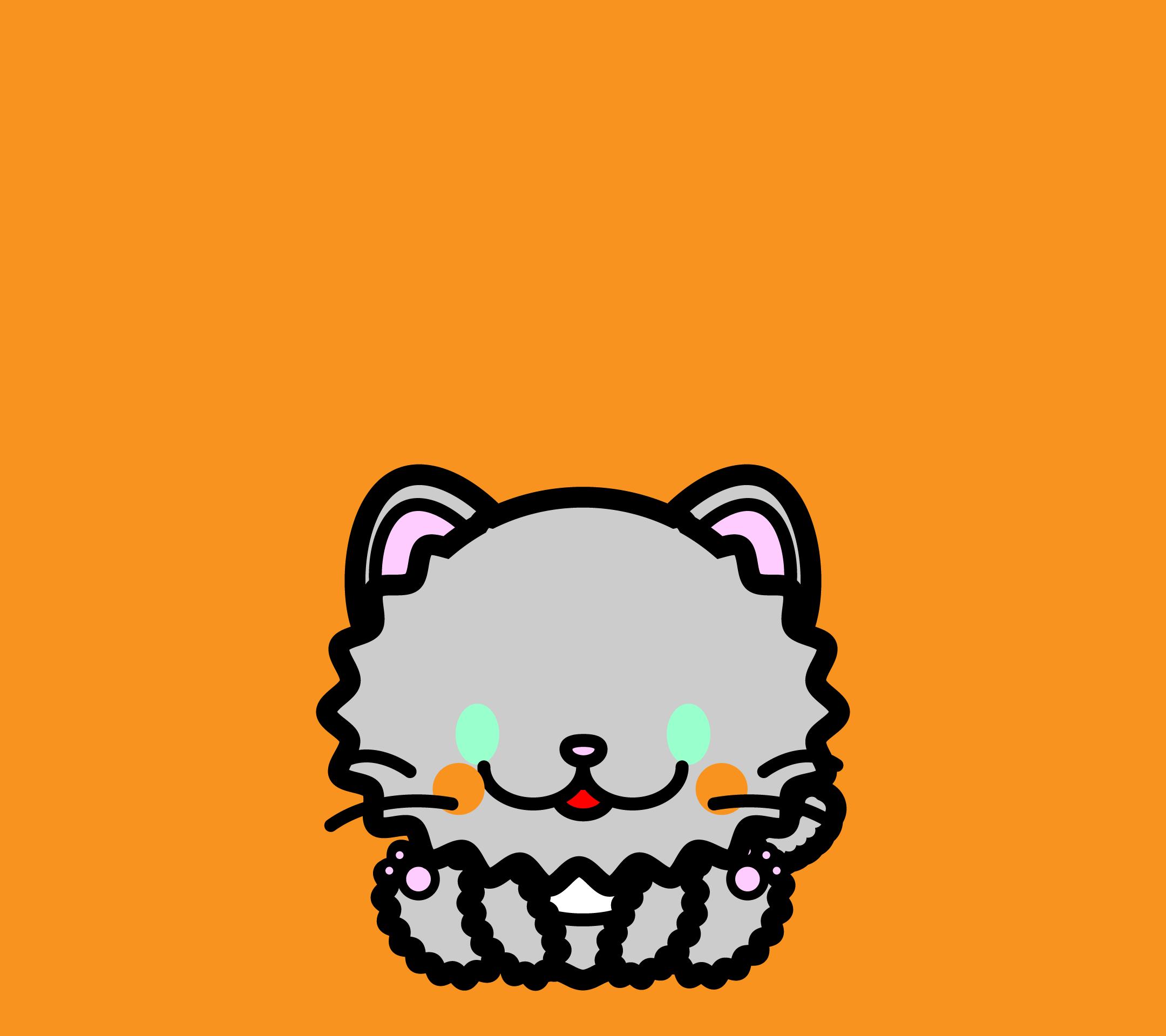 かわいい座りペルシャ猫壁紙(Android)の無料イラスト・商用フリー
