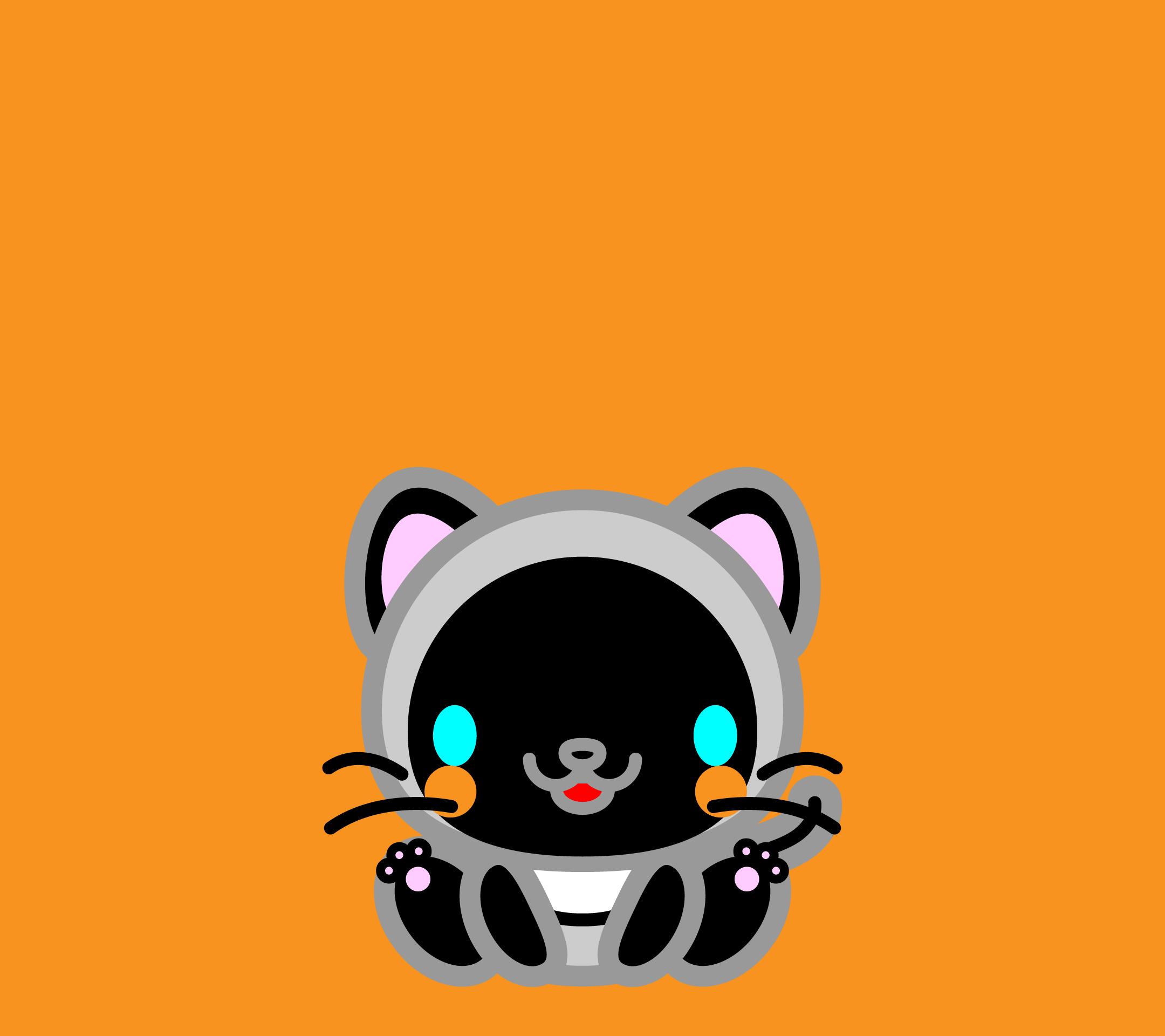 かわいい座りシャム猫壁紙(Android)の無料イラスト・商用フリー