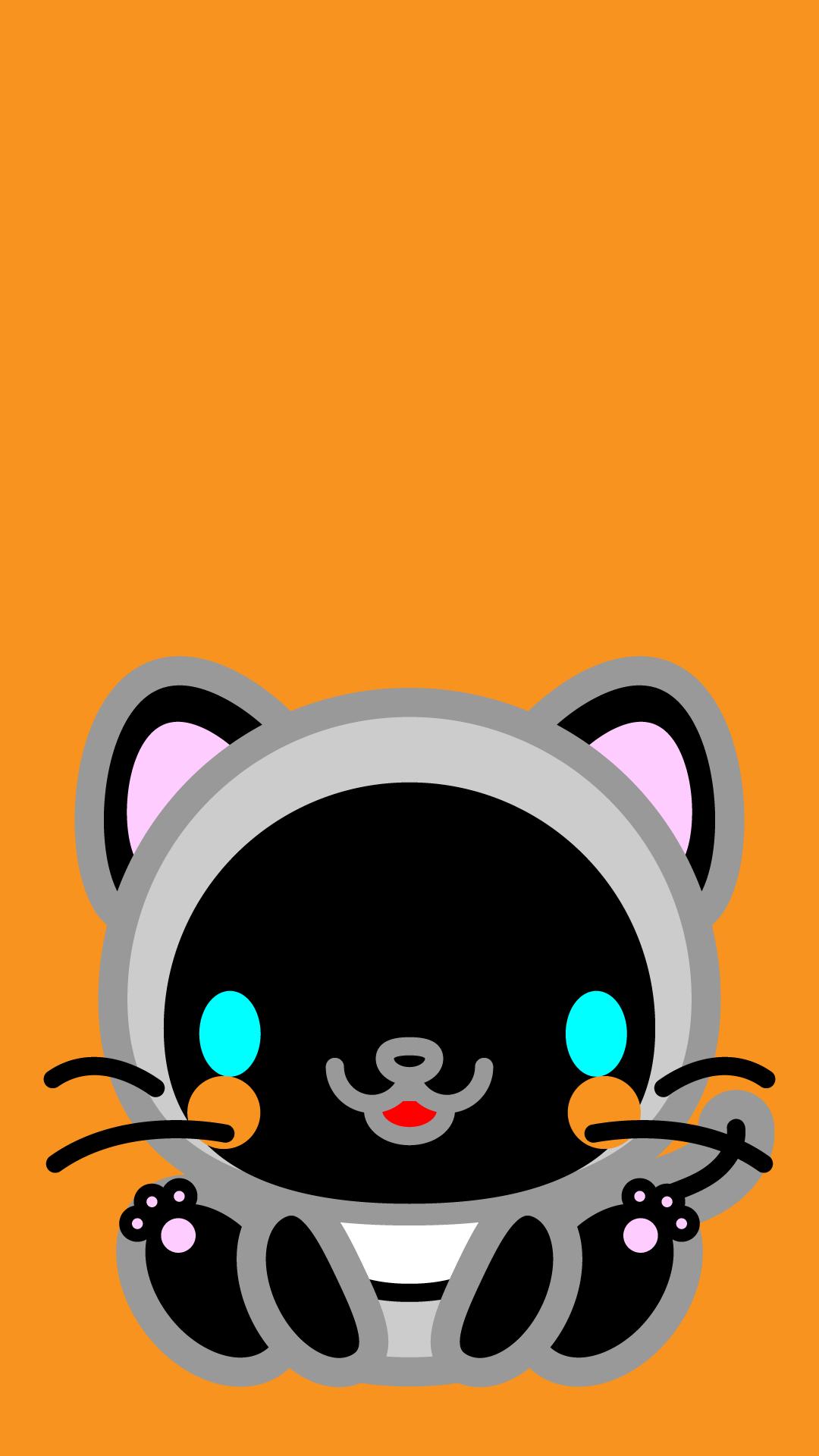 かわいい座りシャム猫壁紙(iPhone)の無料イラスト・商用フリー