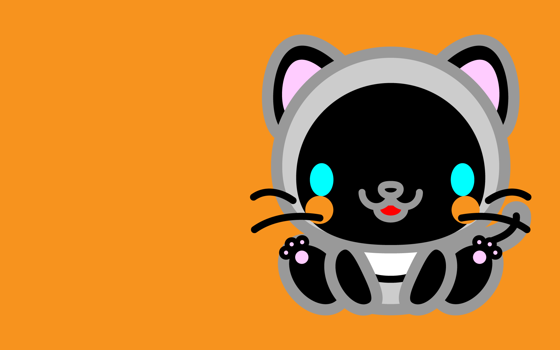 かわいい座りシャム猫壁紙(PC)の無料イラスト・商用フリー