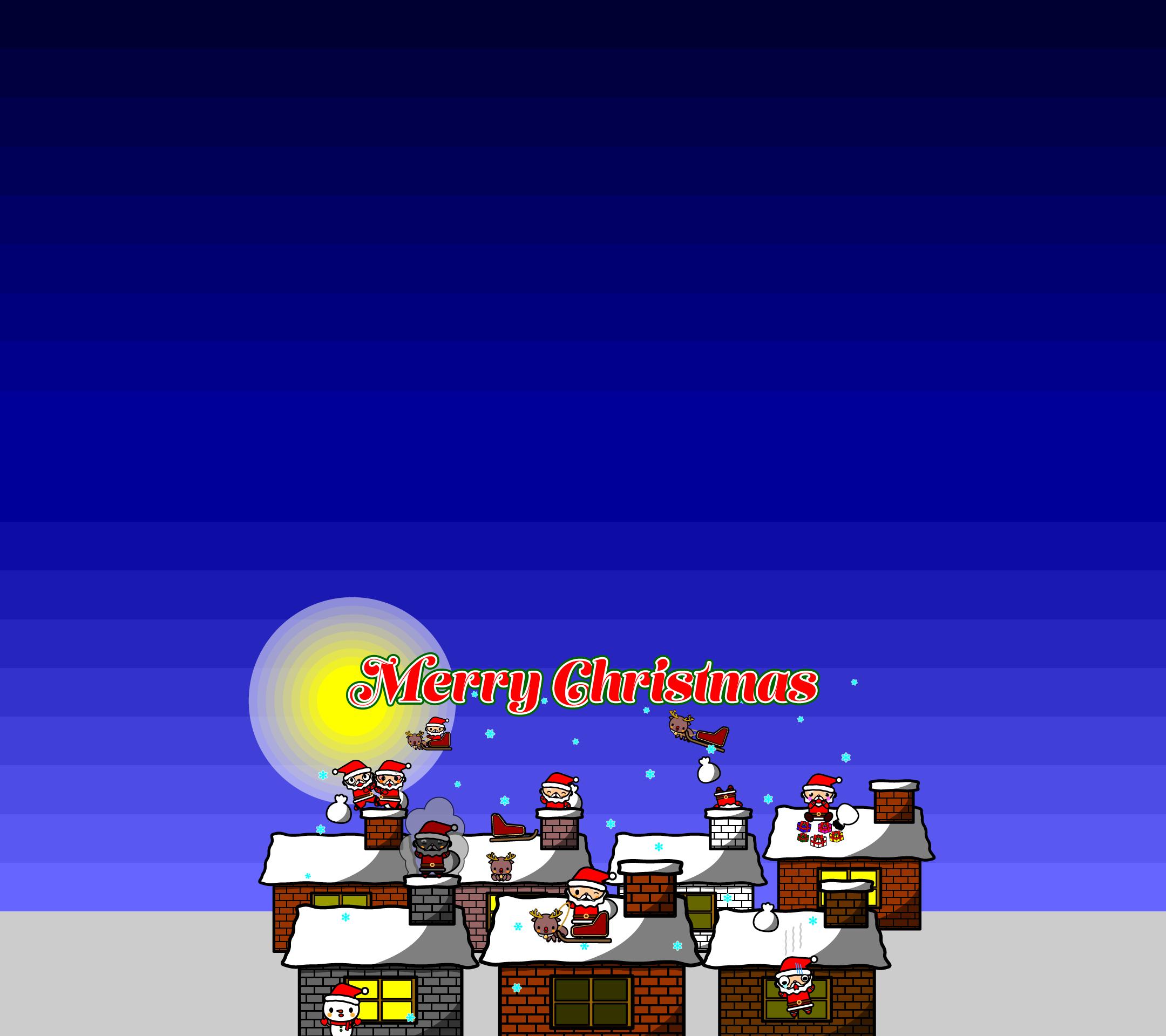 かわいいメリークリスマス壁紙(Android)の無料イラスト・商用フリー