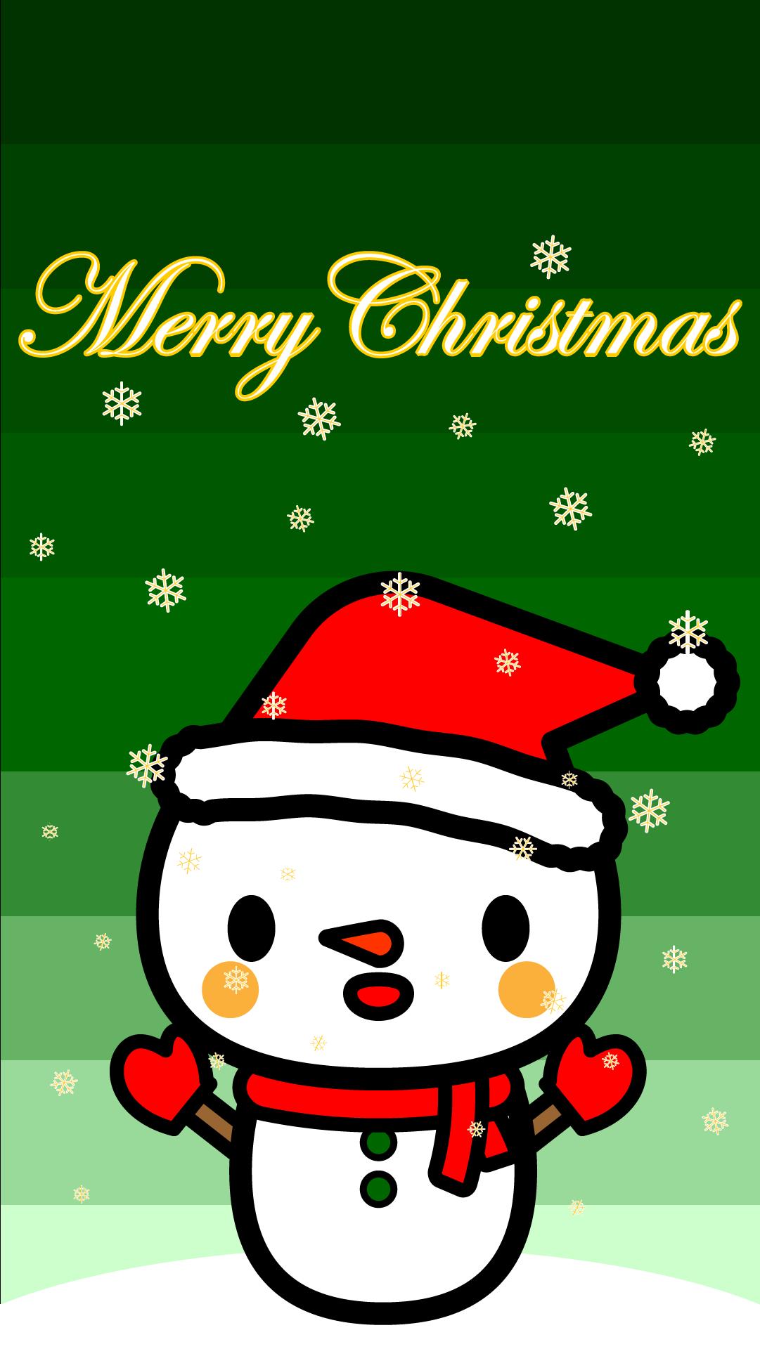 wallpaper6_christmas-snowman-green-iphone