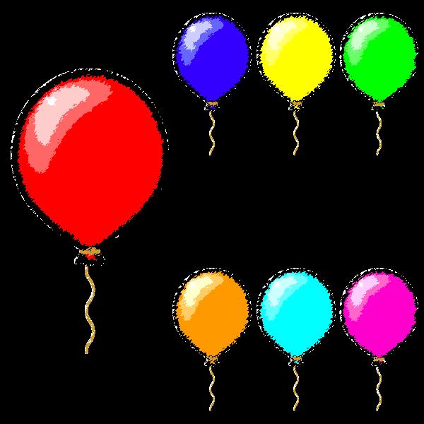 手書き風でかわいい風船の無料イラスト・商用フリー