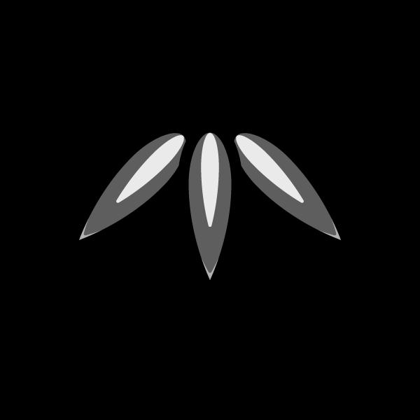 モノクロでかわいい竹の葉の無料イラスト・商用フリー