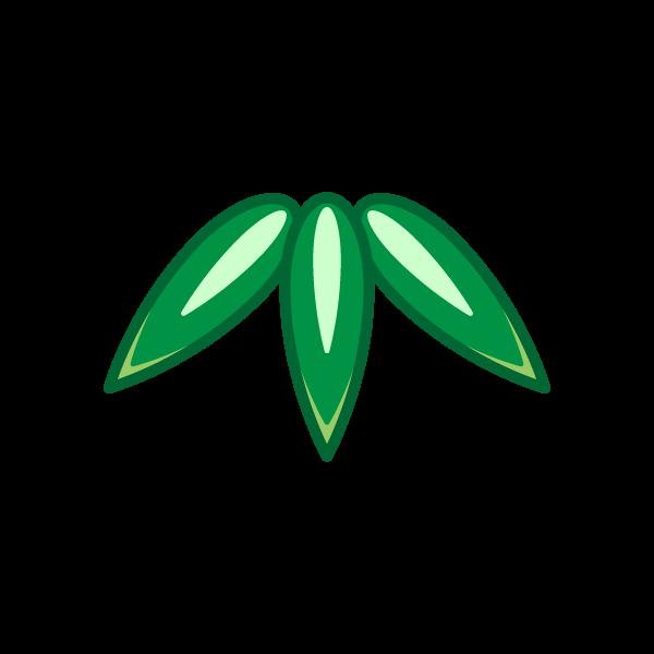 ソフトタッチでかわいい竹の葉の無料イラスト・商用フリー