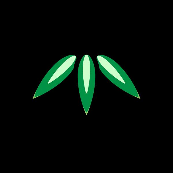 かわいい竹の葉の無料イラスト・商用フリー
