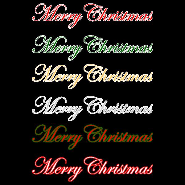 おしゃれでかわいいメリークリスマス文字の無料イラスト・商用フリー