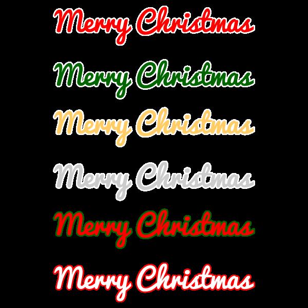 かわいいメリークリスマス文字2の無料イラスト・商用フリー