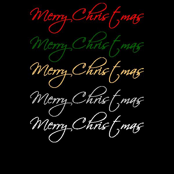 おしゃれでかわいいメリークリスマス文字2の無料イラスト・商用フリー