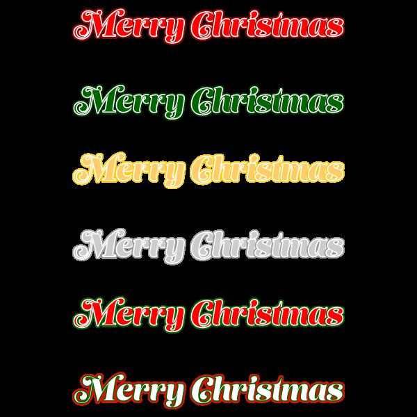 かわいいメリークリスマス文字の無料イラスト・商用フリー
