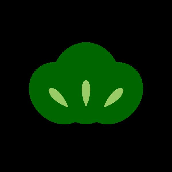 縁無しでかわいい松の葉の無料イラスト・商用フリー