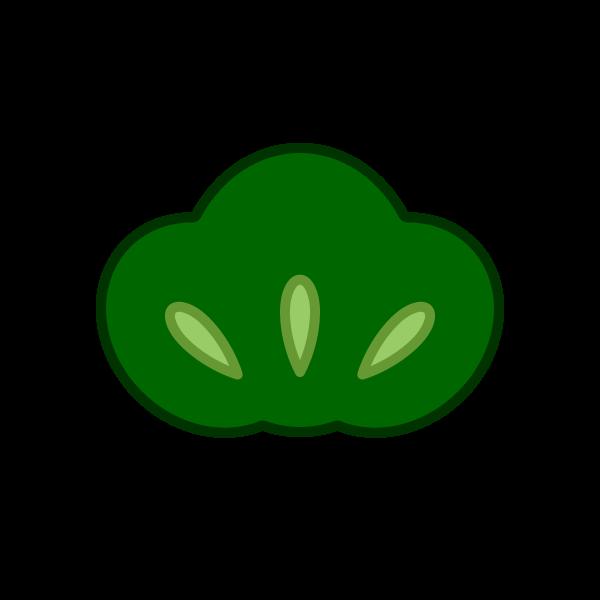 ソフトタッチでかわいい松の葉の無料イラスト・商用フリー