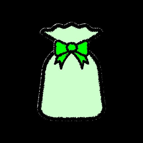present2_bag-green-handwrittenstyle