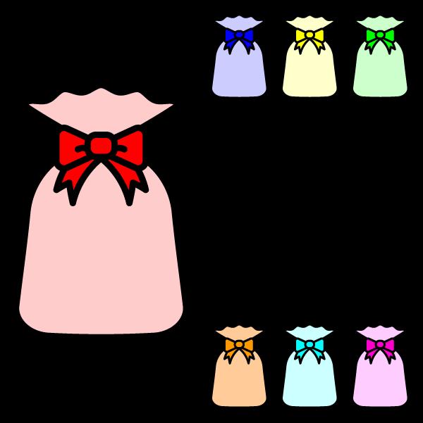 かわいいプレゼント袋の無料イラスト・商用フリー