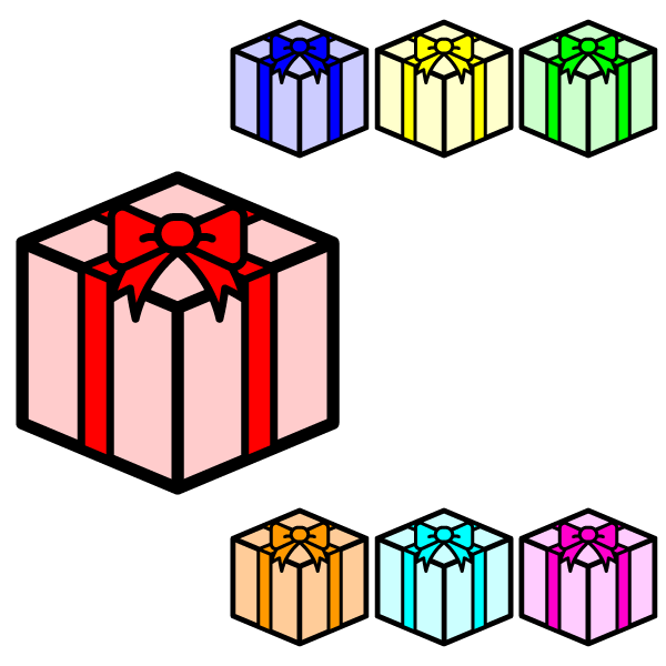 かわいいプレゼントボックスの無料イラスト・商用フリー