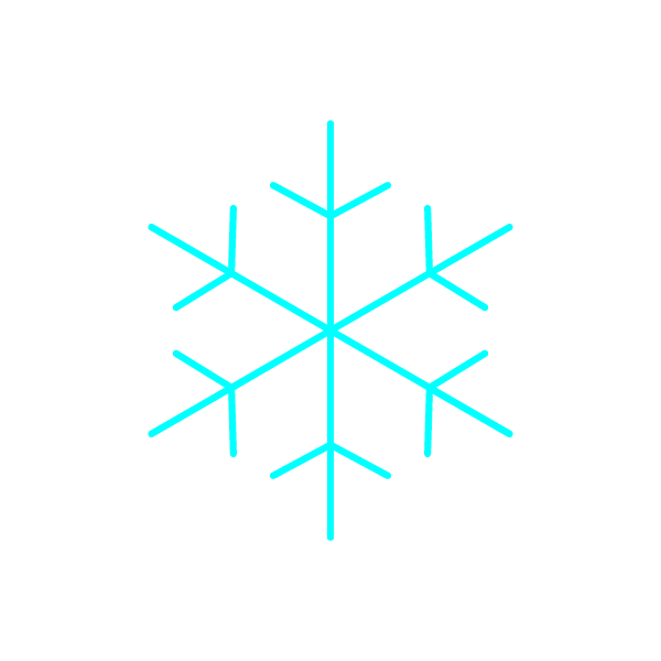 縁無しでかわいい雪の結晶の無料イラスト・商用フリー