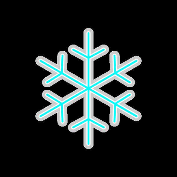 ソフトタッチでかわいい雪の結晶の無料イラスト・商用フリー
