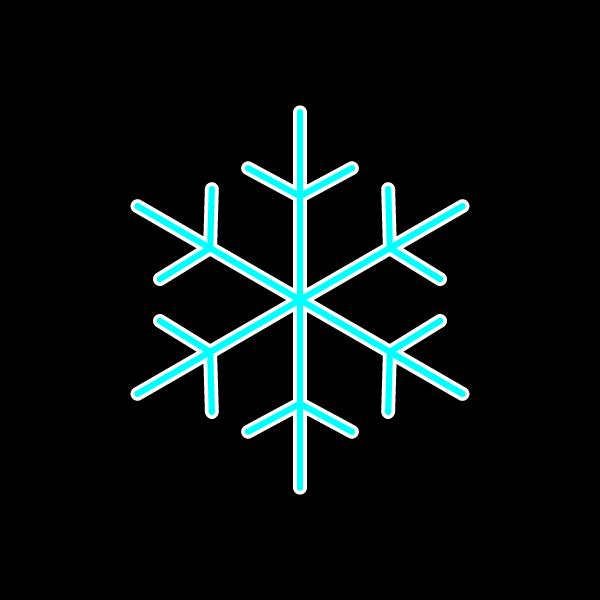 かわいい雪の結晶の無料イラスト・商用フリー