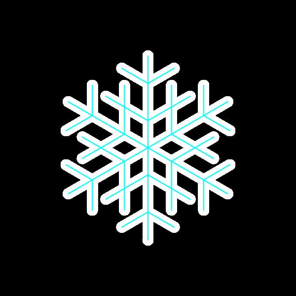 縁無しでかわいい雪の結晶2の無料イラスト・商用フリー