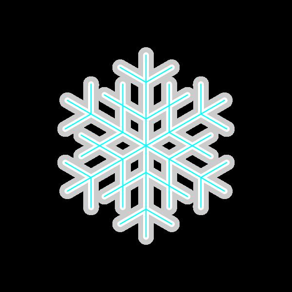ソフトタッチでかわいい雪の結晶2の無料イラスト・商用フリー