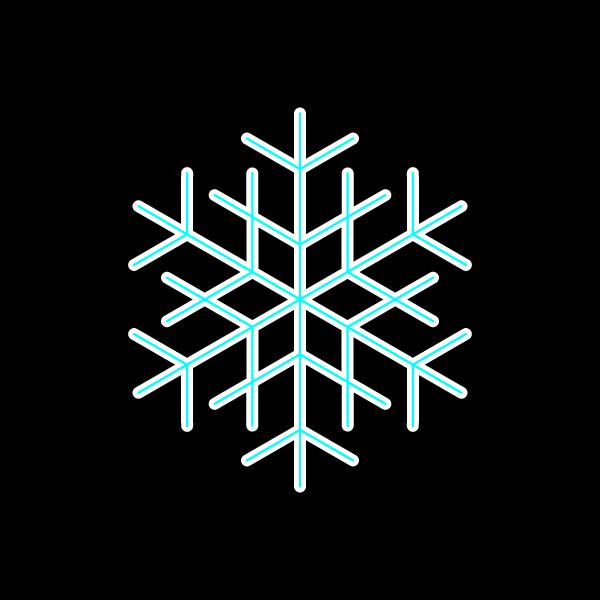 かわいい雪の結晶2の無料イラスト・商用フリー