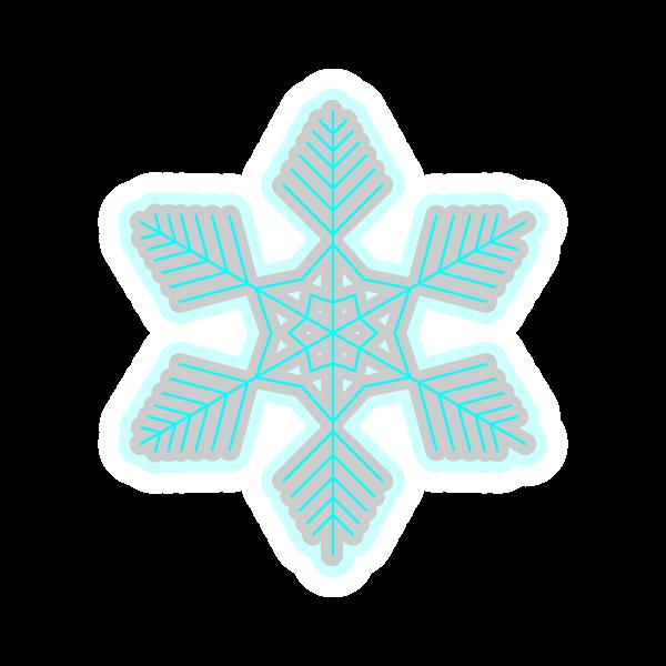 ソフトタッチでかわいい雪の結晶3の無料イラスト・商用フリー