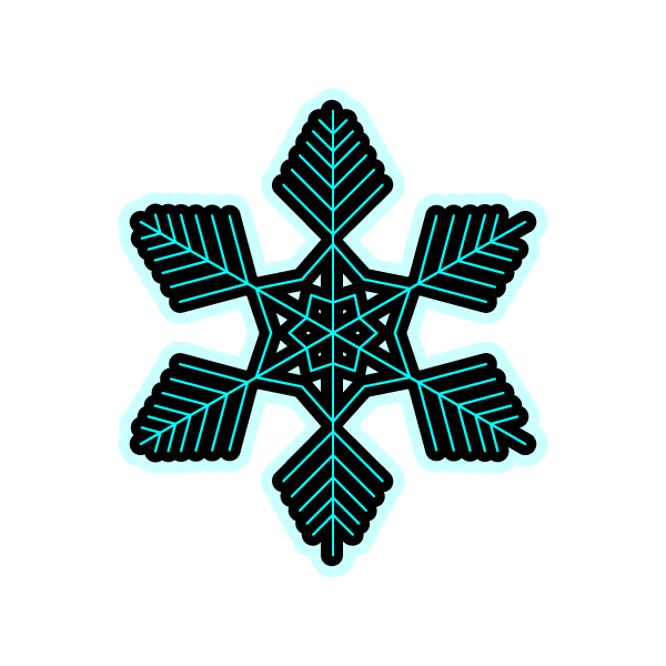 かわいい雪の結晶3の無料イラスト・商用フリー