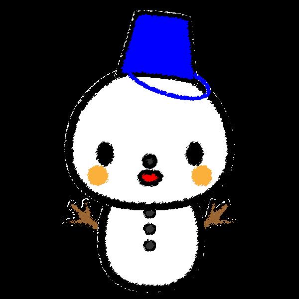 手書き風でかわいい雪だるまの無料イラスト・商用フリー