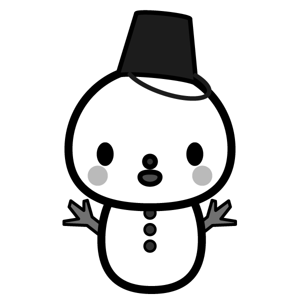 snow_man-monochrome