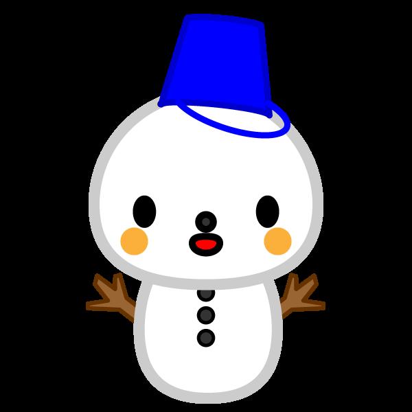 ソフトタッチでかわいい雪だるまの無料イラスト・商用フリー
