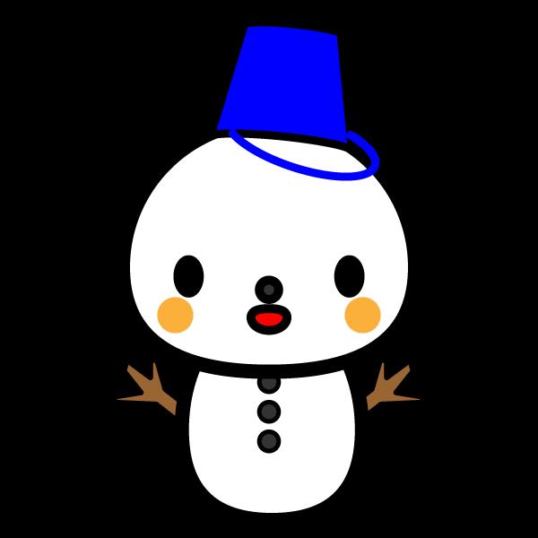 かわいい雪だるまの無料イラスト・商用フリー