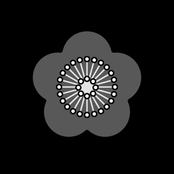 ume_flower-monochrome