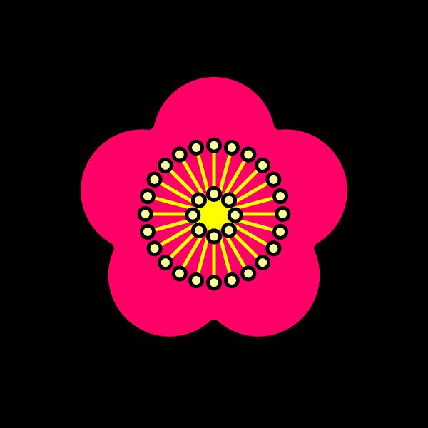 かわいい梅の花の無料イラスト・商用フリー