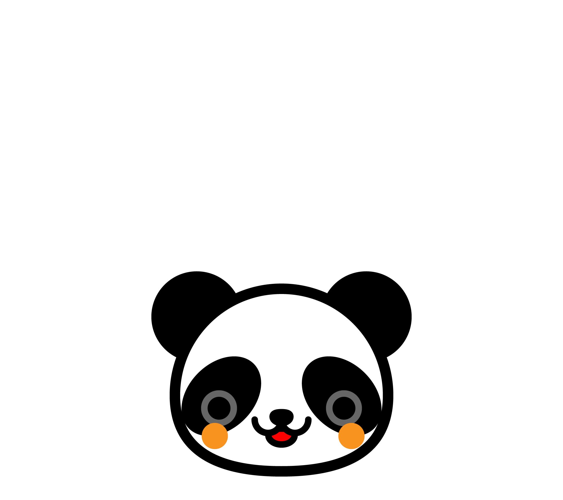かわいい顔だけパンダ壁紙(Android)の無料イラスト・商用フリー