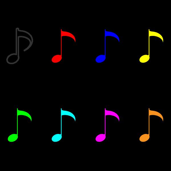 かわいい音符(八分音符)の無料イラスト・商用フリー
