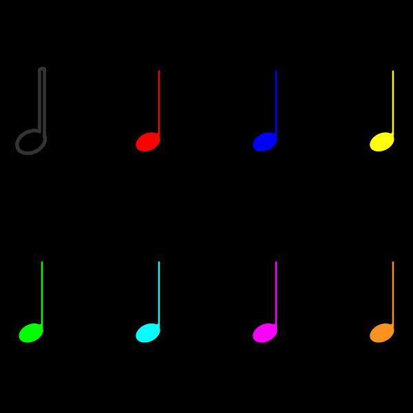 かわいい音符(四分音符)の無料イラスト・商用フリー